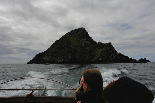 Ein letzter Blick auf die Skelligs.