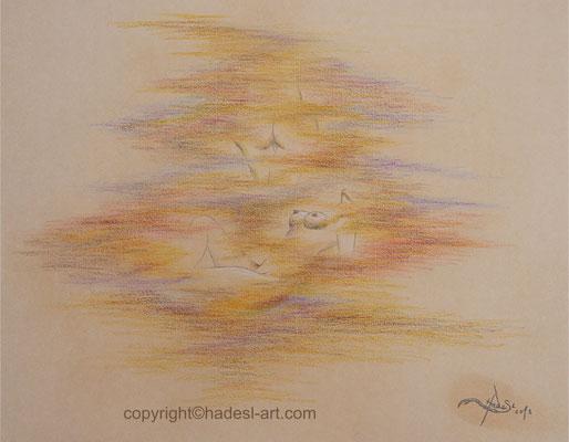 """""""Entdecken"""" mit Pastellkreide 2018  (51 cm x 71 cm)"""