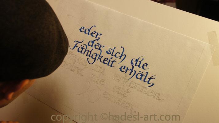 """""""Geburtstag""""...mit Zeichentusche 2015"""