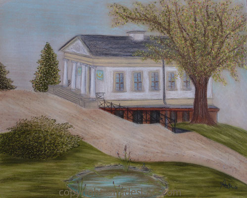 """""""Römisches Haus in Weimar""""...Pastellkreide auf Papier 2015"""