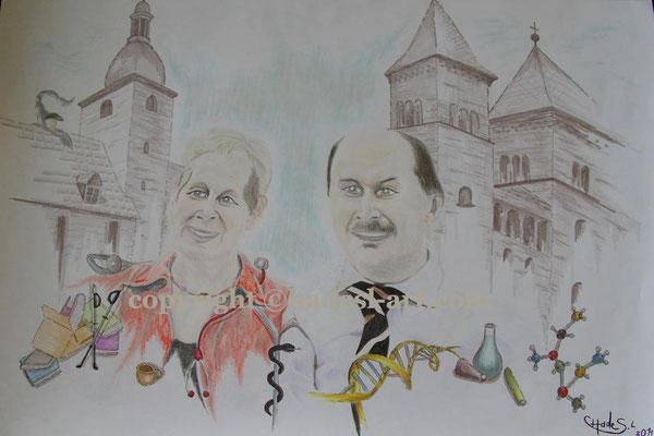 """""""Kreative Menschen""""...Copic u. Buntstifte auf Papier 2011  (30 cm x 42 cm)  verkauft"""