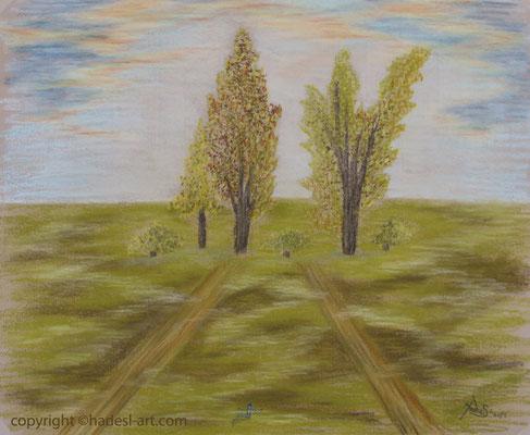 """""""Der gemeinsame Weg""""...Pastellkreide auf Papier 2015  (51 cm x 71 cm)"""