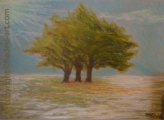 """""""Die Familie""""...Pastellkreide auf Papier 2013  (51 cm x 71 cm)  verkauft"""