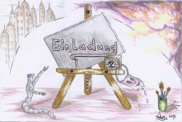 """Einladung""...Aquarell  2013  (31 cm x 41 cm)"