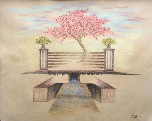 """""""Park in Weimar""""...Pastell 2020 (51x71 cm)"""