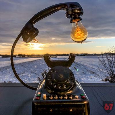 Siemens & Halske W48 upcycling telephone lamp - Jürgen Klöck - 2017
