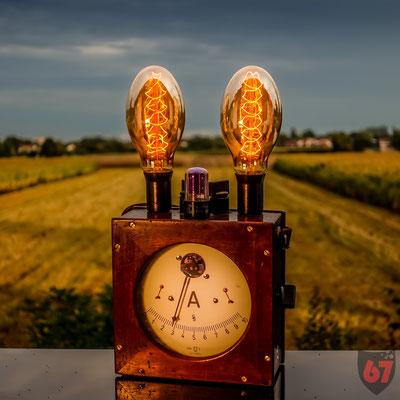 Antique Siemens & Halske Amperemeter upcycling lamp - Jürgen Klöck - 2017