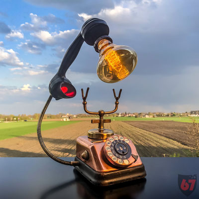 1930s Copper telephone KTAS D30 upcycling lamp - Jürgen Klöck - 2019