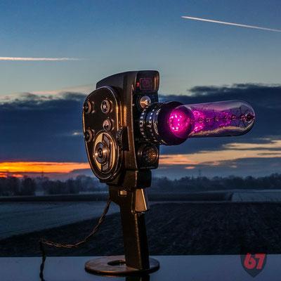 Zenit Quarz DS8-M film camera upcycling lamp - Jürgen Klöck - 2018