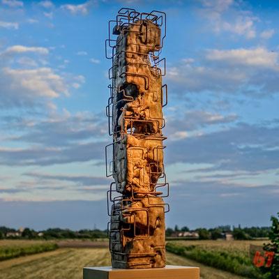 Concrete casting sculpture Symbiose - Jürgen Klöck - 1988