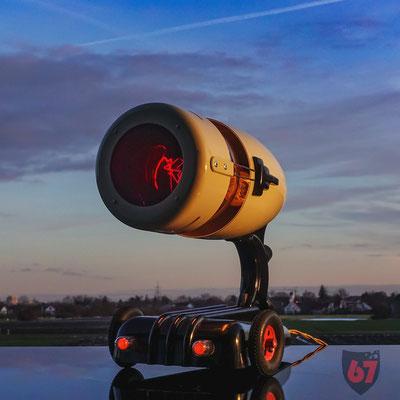 Original Hanau Sollux redlight upcycling lamp - Jürgen Klöck - 2019