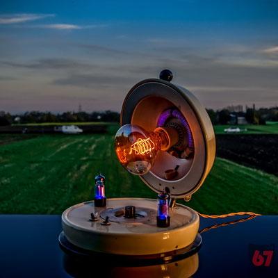 Astralux Baby artificial sun upcycling lamp - Jürgen Klöck - 2018