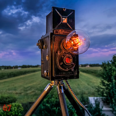 Voigtländer Brillant upcycling camera lamp - Jürgen Klöck - 2017