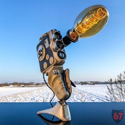 Eumig C3M film camera upcycling lamp - Jürgen Klöck - 2017