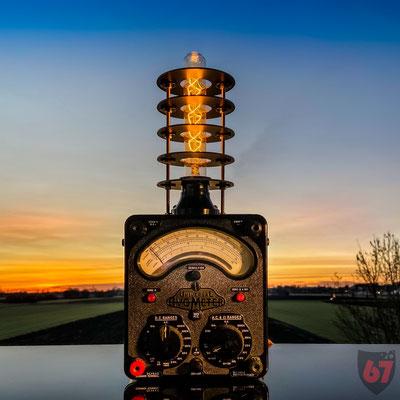 Avometer mod. 8 AVO upcycling lamp - Jürgen Klöck - 2017