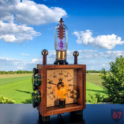 Antique Wattmeter upcycling lamp with Cetron electron tube - Jürgen Klöck - 2018