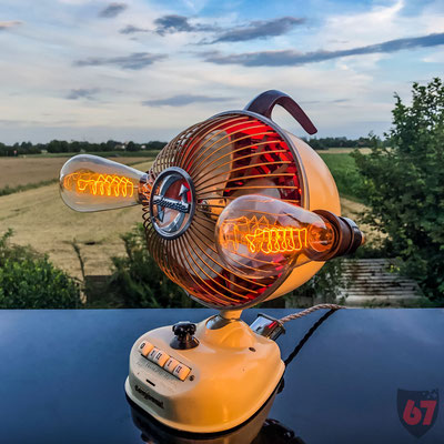 1960s Maybaum Climetta fan upcycling light object - Jürgen Klöck - 2019
