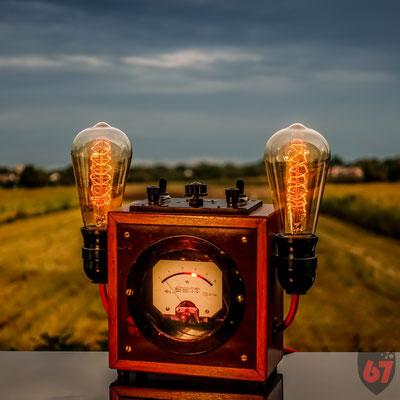 Antique Gebr. Bässler Wattmeter upcycling lamp - Jürgen Klöck - 2017