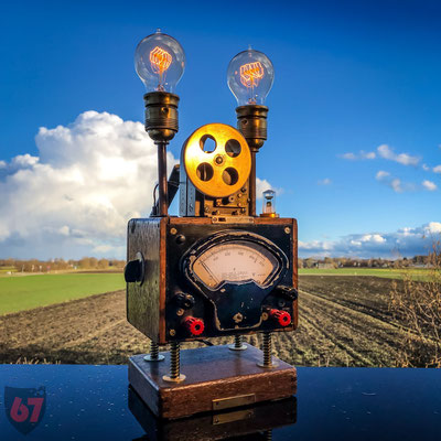 Antique Gebr. Bässler Insulation meter upcycling lamp - Jürgen Klöck - 2017
