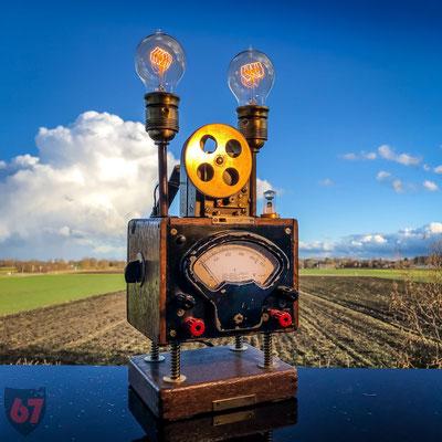 Antique Gebr. Bässler Insulation meter upcycling lamp - Jürgen Klöck - 2017
