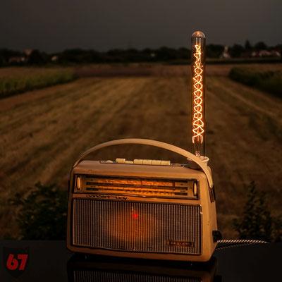 Grundig Concert Boy 204 upcycling lamp - Jürgen Klöck - 2017