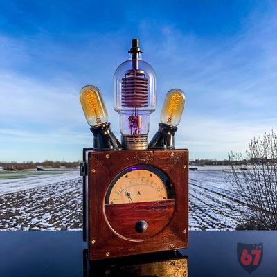 Antique Voigt & Haeffner Amperemeter upcycling lamp - Jürgen Klöck - 2018