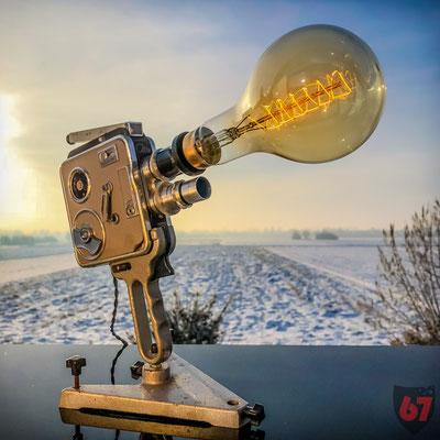 Meopta Admira 8IIa upcycling lamp - Jürgen Klöck - 2017