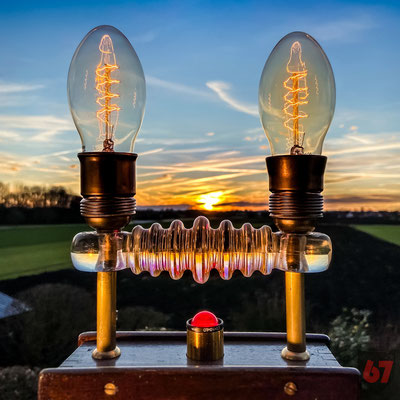 1920s Gans & Goldschmidt Ohmmeter upcycling light sculpture - Jürgen Klöck - 2019