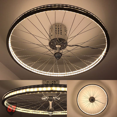 Upcycling bicycle rim lamp with LED stripe - Jürgen Klöck - 2016