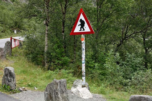 (A) Es geht hinauf zum Trollstigen ...