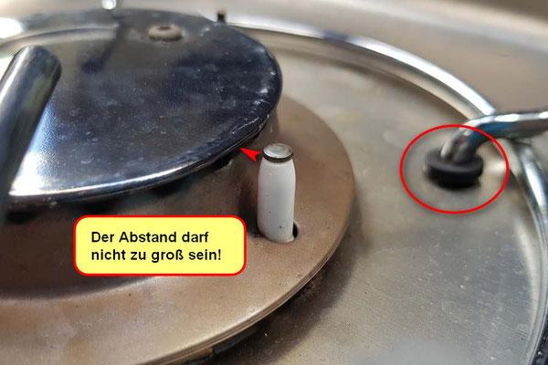 Der Piezoanzünder musste VORSICHTIG näher an die Gasaustrittsdüse gebogen werden. Die Gummiringe beim Reinigen nur nicht verlieren - das wird richtig teurer!