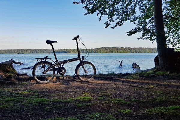 Wirklich weit kam ich mit dem Rad nicht - keine Puste!