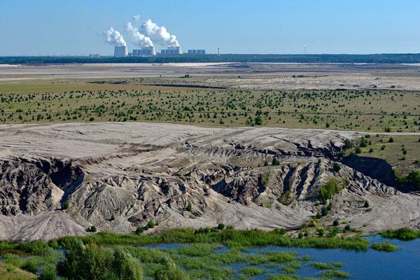 """""""Renaturierungsfläche"""" eines Kohle-Tagebaugebiets vor Jänschwalde"""