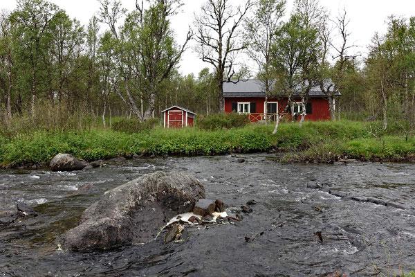 Direkt vor der Grenze zu Norwegen