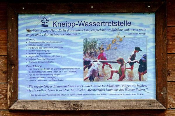 Kneipp-Stelle im Schlosspark