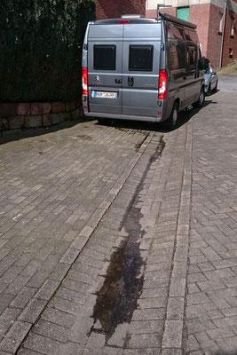 Wasser im Fahrzeug: Test des Warmwasserkreislaufs - es hörte irgendwie nicht auf zu tropfen...