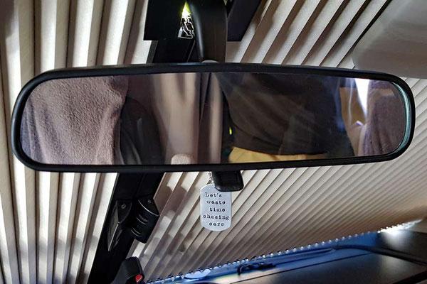 Nachgerüsteter Originalrückspiegel - auch mit REMIS-Verdunklung kombinierbar