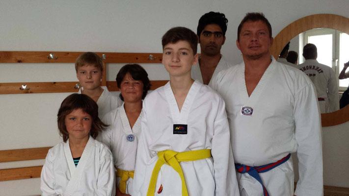 Maurice, Hannes, Linus, Lennard, Hamid, Christian - Herzlichen Glückwunsch!