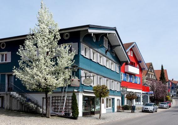 Häuserfassaden in Weiler