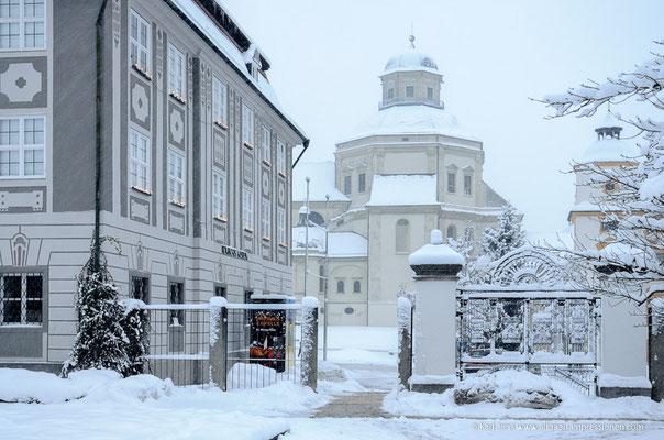Zumsteinhaus und Basilika Kempten