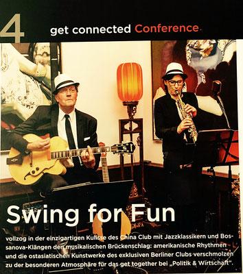 ...vollzog mit Jazzklassikern und Bossanovaklängen den Brückenschlag...