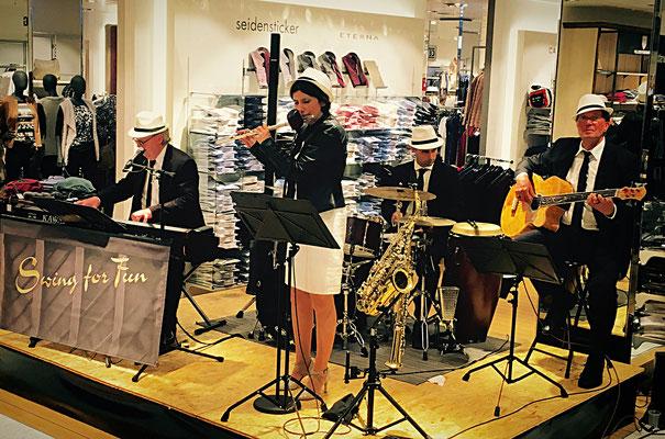 Jazzkonzert zur Kunst- und Kulturnacht in Ludwigslust, Swing for Fun - Quartett