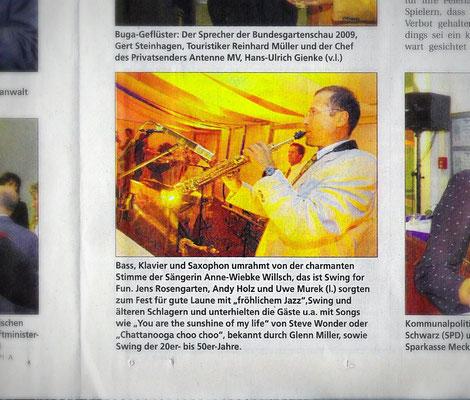 """...sorgten zum Fest für gute Laune mit """"fröhlichem Jazz""""..."""