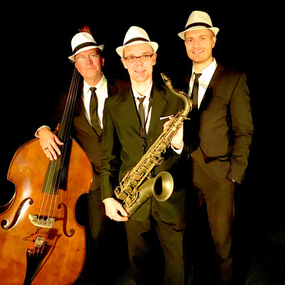 Jazz Trio instrumental, Saxophon + Klavier + Kontrabass