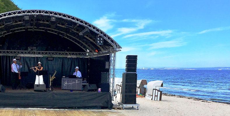 flotte Swingmusik zum Seebrückenfest Sellin auf Rügen