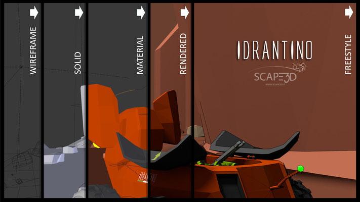 IDRANTINO SCAPE3D_BLENDER RENDER