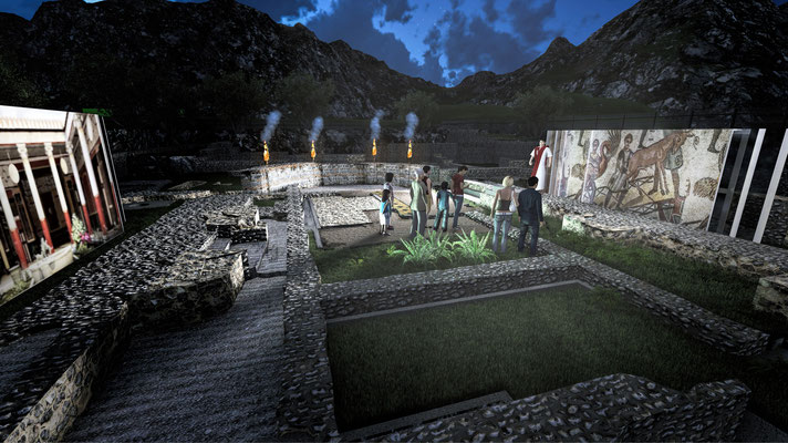 SCAPE3D_Jovis: vista esterna area archeologica
