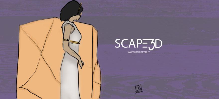 SCAPE3D_MATER arte grafica: Fanciulla