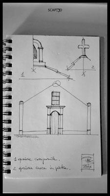 Ermita San Antonio de Padua: Bocetos de estudio, fachada_SCAPE3D
