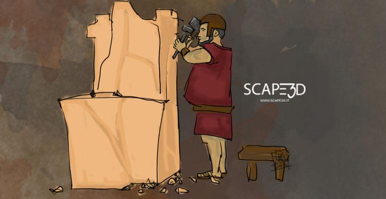 SCAPE3D_MATER arte grafica: Scalpellino